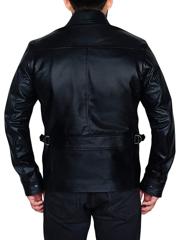 Cafe Racer Shawn Ashmore Game Quantum Break Black Leather Jacket Men