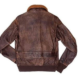 Aviator A-1 Flight Jacket Distressed Brown Real Leather Bomber Jacket