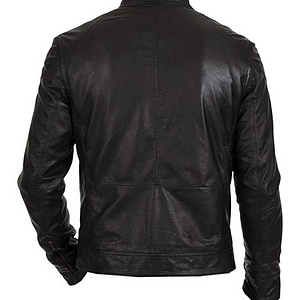 Men's Biker Hunt Black Motorcycle Lambskin Leather Jacket