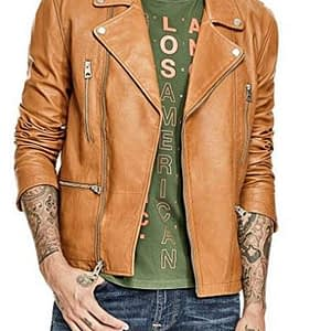 Men's Volt Leather Biker Jacket