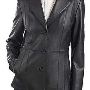 Women's Crystal Lambskin Leather Trench Coat