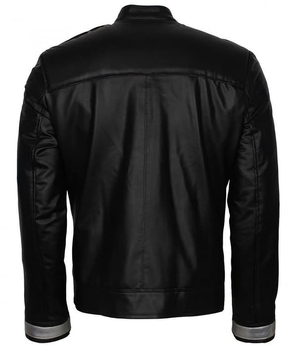 Mens Agent Of Shield Ghost Rider Black Biker Leather Jacket Sexy Outfits