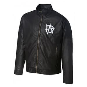 Wrestling Star Dean Ambrose Logo Black Leather Jacket