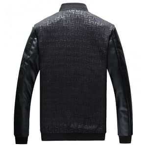 New Men's Black Motorcycle Leather Jacket