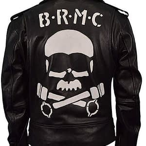 Vintage BRMC Brando Motorcycle Black Leather Rider Jacket