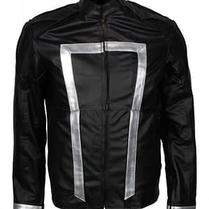 Ghost Rider Black Leather Jacket For sale Black Biker Jacket