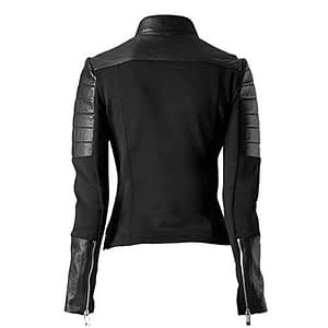 Women's Stylish Soft Black Leather Jacket